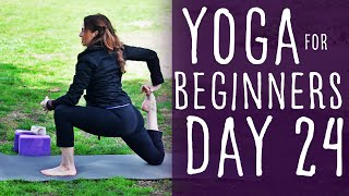 30 Minute Yoga For Beginners 30 Day Challenge Day 24 with Fightmaster Yoga
