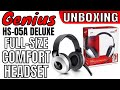 GENIUS HS-05A DELUXE FULL-SIZE HEADSET FOR COMFORT UNBOXING (GR)