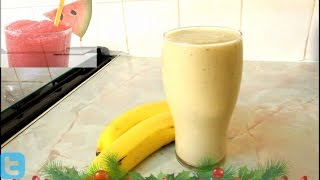Ice Cream Smoothie - Over  ripe banana smoothie with Ice cream.