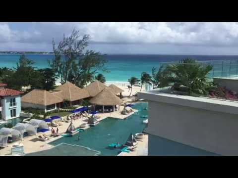 Sandals Royal Barbados Rooftop Terrace Bar with Pool and Hottub by Lynn at Alpha Travel 919-467-5020