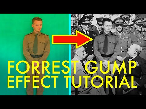 Forrest Gump Effect Tutorial (add yourself to historical footage)