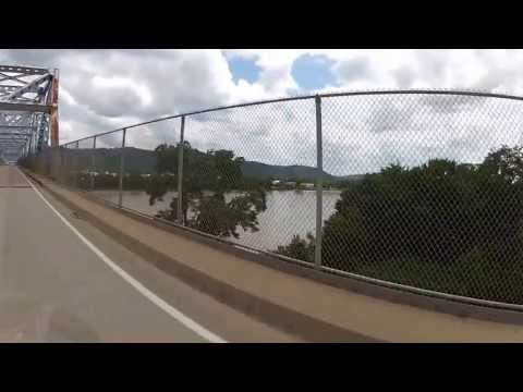 Motorcycle Tour ,Bridge from Hannibal Ohio to New Martinsville WV