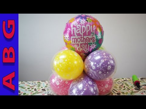 DIY Mothers Day Gift Balloon Decoration tutorial idea Easy and simple to make!