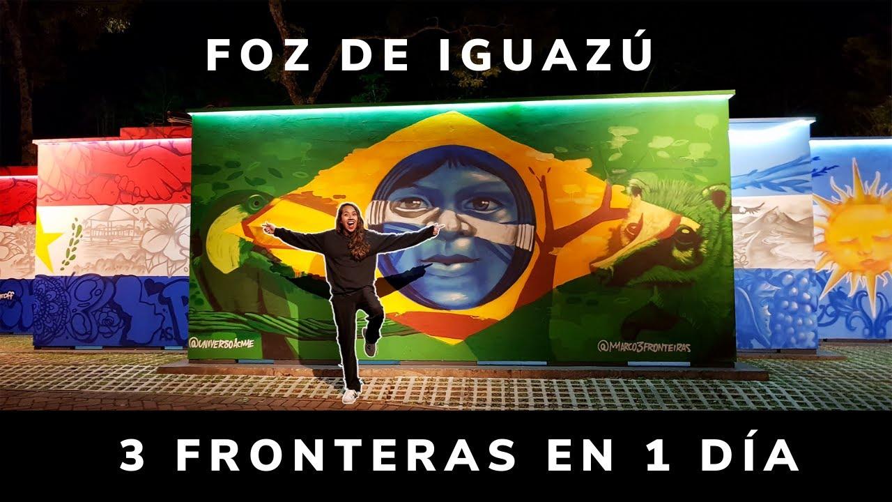 😱¡Pisé 3 países en 1 día! | Brasil, Argentina y Paraguay