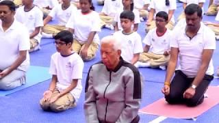 Shri Vajubhai Vala , Hon'ble Governor of Karnataka on International Yoga Day