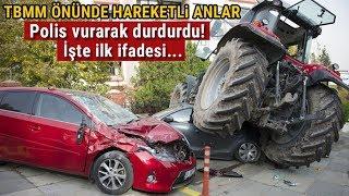 Ankara'da Traktör ile İsrail Büyükelçiliği'ne Saldırmak İsteyen Şahıs Vurularak Durduruldu
