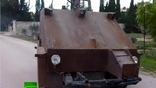 Video: Syria rebels unveil cutting-edge homemade tank thumbnail