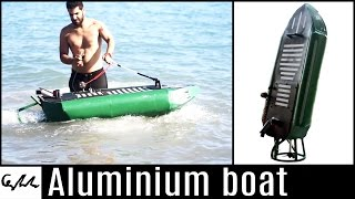 Gasoline engine aluminium boat