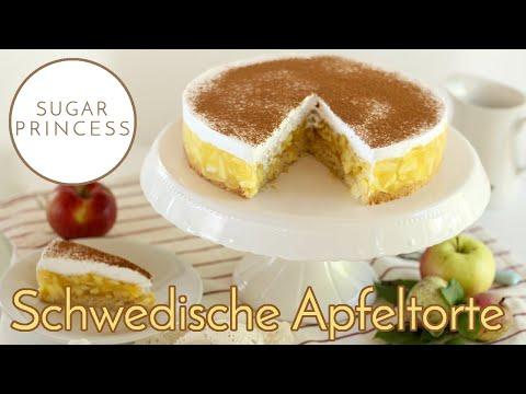 Himmlische schwedische Apfeltorte - einfach und schnell gezaubert | Rezept von Sugarprincess