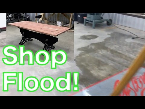Flooded Shop - Preview of Truss Bracket Table - Oldbarn Homesteading - Daily Vlog