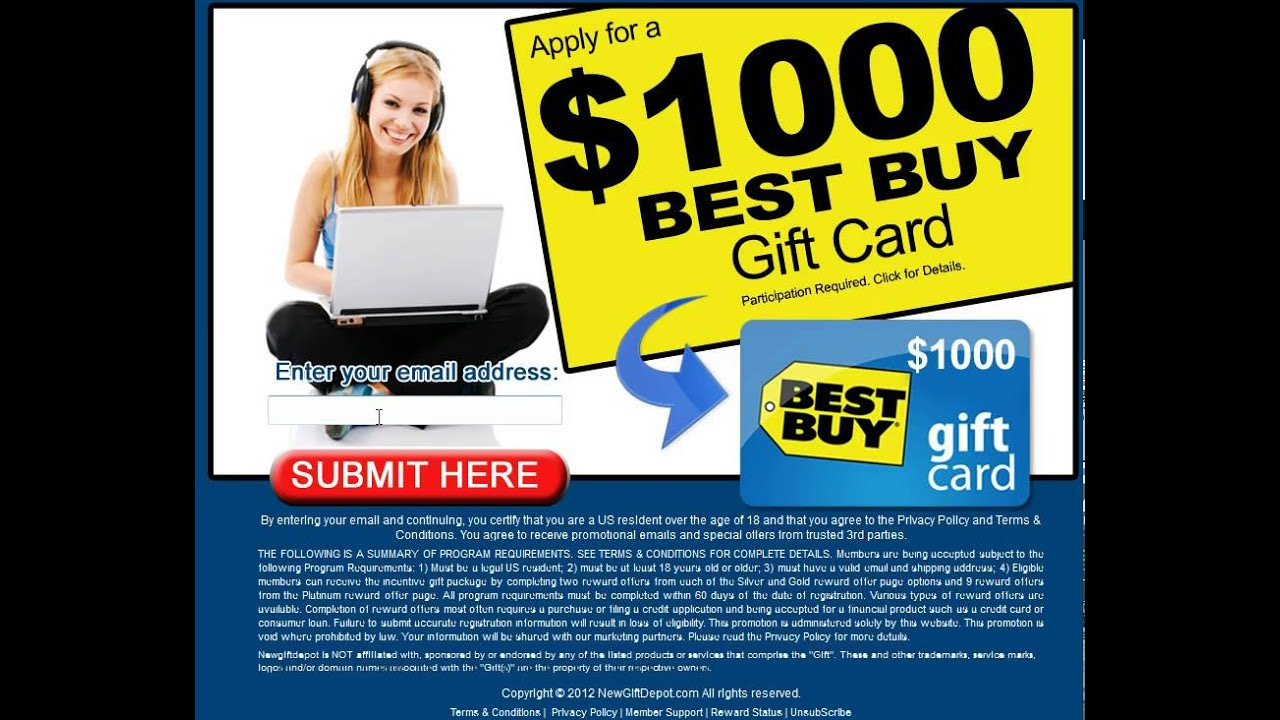 How to Get a $1000 Best Buy Gift Card | Get Your $1000 Best Buy ...
