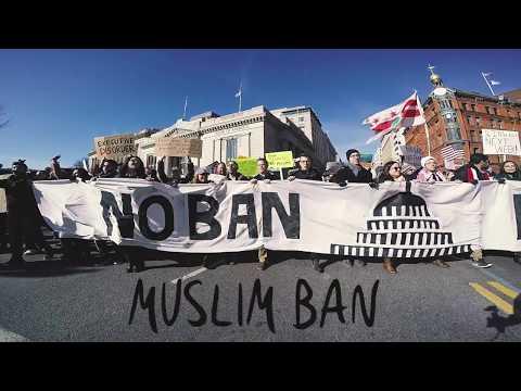 Muslim Ban March - Washington DC (2/4/17) - NoRapNoBan (Song Visual) - Shimmer
