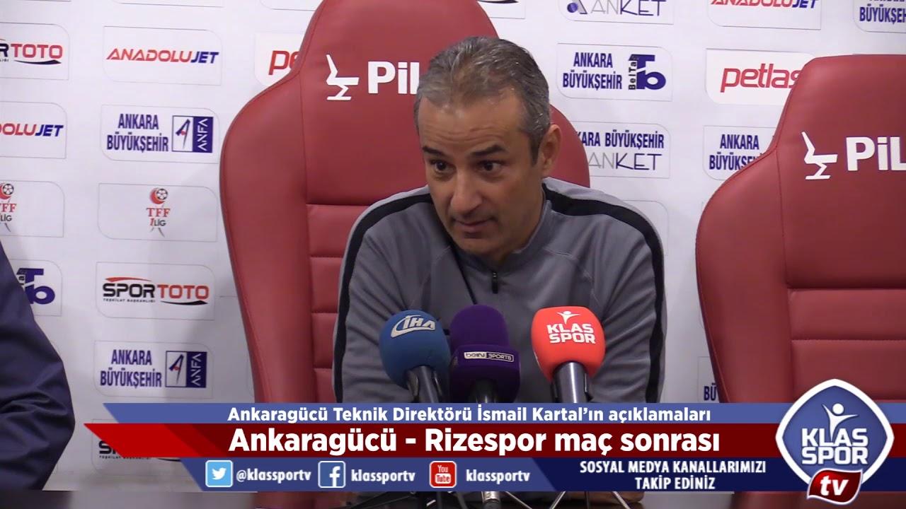 Ankaragücü, kritik maçta evinde Rizespor'a 4-2 yenilerek önemli bir avantajı kaybetti. Karşılaşma sonrası Teknik Direktörler İsmail Kartal ile İbrahim Üzülme...