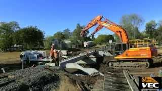 Vec: Central-west Qld, Bridge Replacement Direct Fix Time-lapse