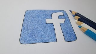 How to draw the logo of Facebook