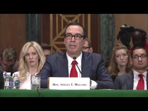 Reed Questions Secretary Mnuchin at Banking Committee Hearing