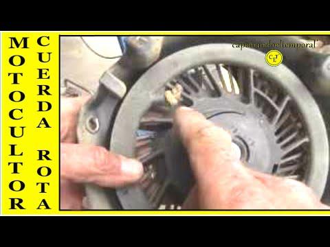 cuerda de arranque rota, en motoazada o motocultor ( reparación) broken starter rope in rototiller
