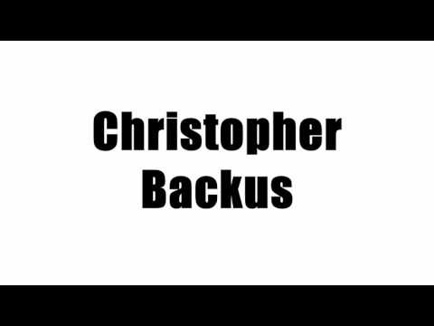 Christopher Backus