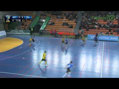 Estija 2:5 Lietuva: (UEFA Futsal 2016 atranka, įvarčiai; 2015-01-15)