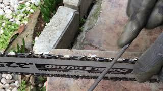 Motorlu testere (Hızar.Benzinli ve Elektrikli Zincirli Ağaç Kesme) bıçakları bileme nasıl yapılır.