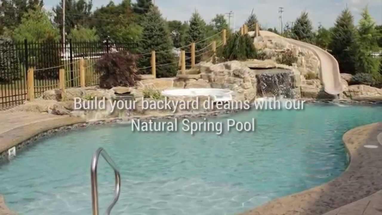 New Jersey Inground Pool Pool Town 39 S Natural Spring Swimming Pool Youtube