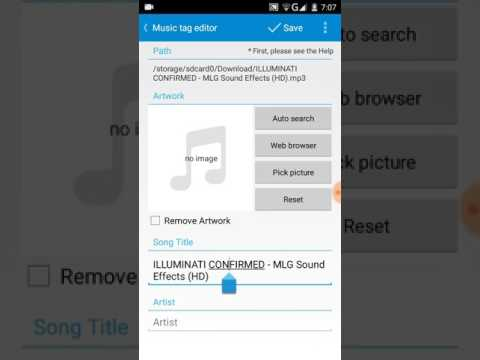 How To Edit Name Of Music,Artist,Album And How To Put The Image Of Your Mus