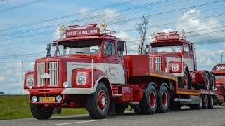 'Scania Kingsday' 125 Jarig bestaan van Scania! uittocht oldtimers (HD)
