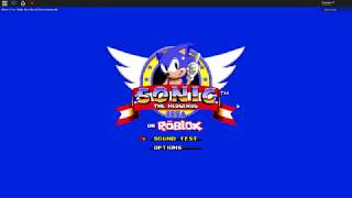 Sonic sur Roblox // Roblox Sonic the Hedgehog sur Roblox