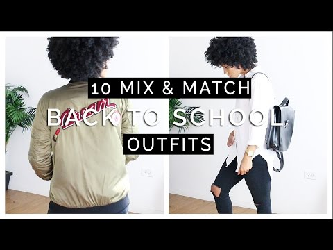 10 Mix & Match Back to School Outfits LOOKBOOK