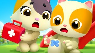 Mèo con bị ngã đau | Boo Boo song | Bài học an toàn | Nhạc thiếu nhi vui nhộn | BabyBus