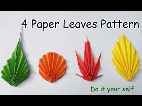 4 Easy DIY Paper Leaves making Instructions (Paper Leaf Pattern)