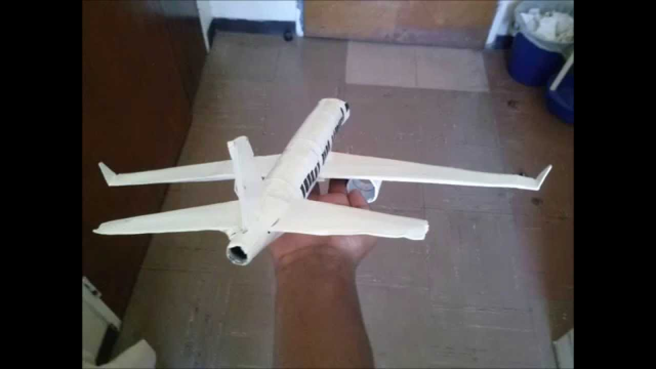 Plane Model Made From Toilet Paper Rolls A Cereal Box And - Box paper airplane