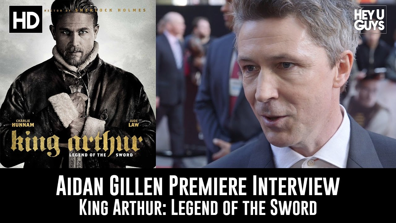 Aidan Gillen Premiere Interview King Arthur Legend Of The Sword Youtube