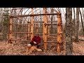 Building a Native American Longhouse with Hand Tools   The Best Natural Bushcraft Shelter