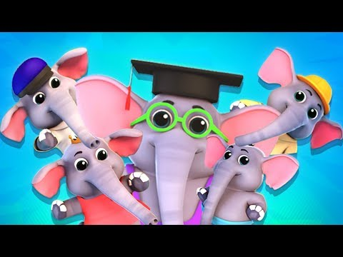 Five Little Elephants Nursery Rhymes | Children Songs By Junior Squad