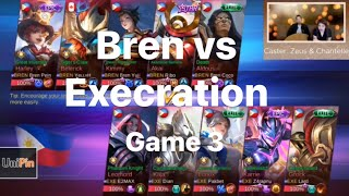 DO OR DIE?!! Bren Esports VS Execration   Game 3   JustML League   Mobile Legends