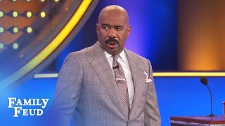 Put THIS in your bra?! Steve Harvey is STUNNED!!! | Family Feud