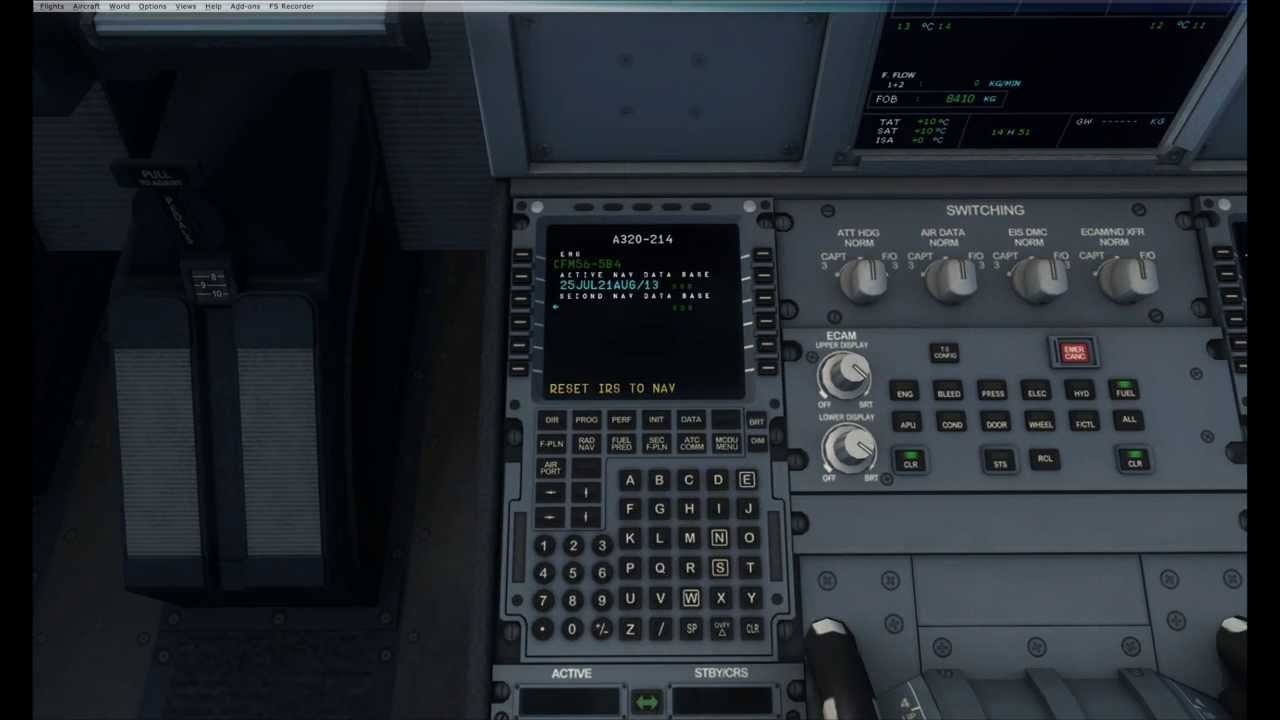 FSX HD VIDEO AEROSOFT AIRBUS EXTENDED FROM COLD & DARK TO ENGINE STARTUP