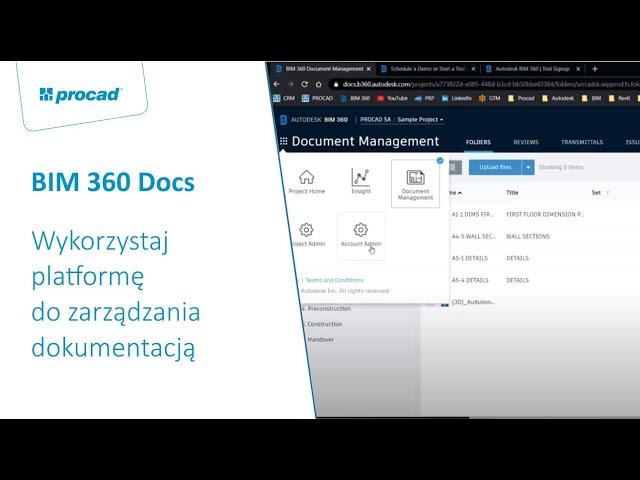 BIM 360 Docs - wykorzystaj platformę do zarządzania dokumentacją