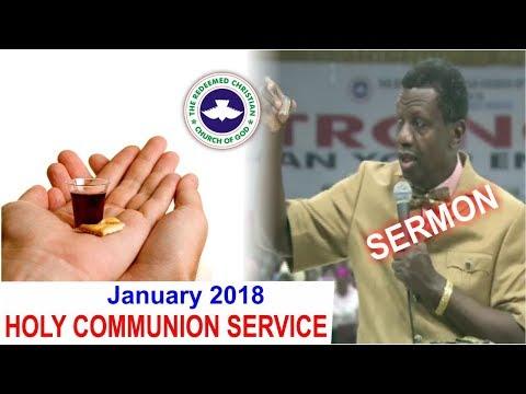Pastor E.A Adeboye Sermon @ RCCG January 2018 HOLY COMMUNION SERVICE