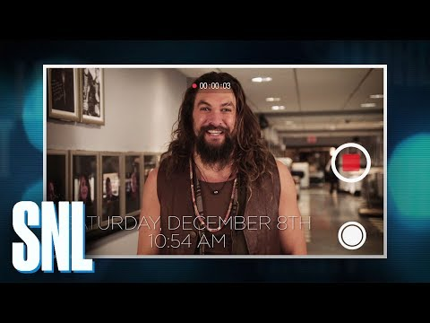 Jason Momoa's SNL Video Diary
