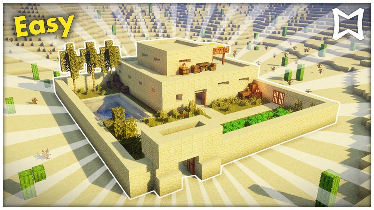 Minecraft Desert Survival House Tutorial Easy Youtube