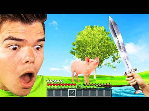 MINECRAFT But It's REAL LIFE! (Ultra Realistic)