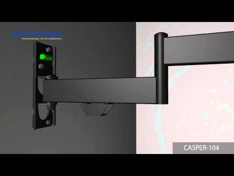 видео: Наклонно-поворотный кронштейн kromax casper-104