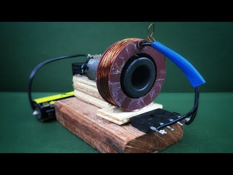 100% work free energy using dc motor with battery 3.7V generator 12V - Simple experiment at home