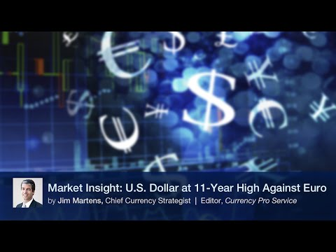 Market Insight: U.S. Dollar at 11-Year High Against Euro
