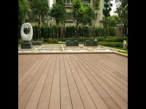 Waterproof exterior vinyl deck flooring material - YouTube