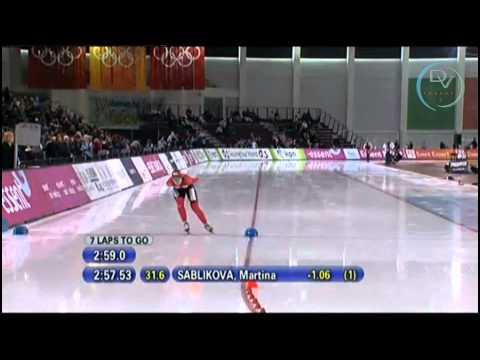 Stephanie Beckert & Martina Sáblíková 5000m, Salt Lake City 2011