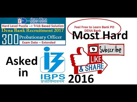 Puzzle asked in IBPS PO 2016 [#4] Hard level 4-data based