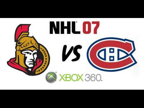 NHL 07 - Ottawa Senators vs. Montreal Canadiens